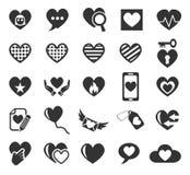 Ensemble d'icône d'amour de coeur Photo libre de droits