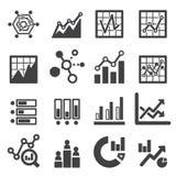 Ensemble d'icône d'Analytics Photographie stock libre de droits