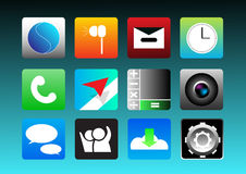 Ensemble d'icône d'APP Illustration de Vecteur