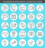 Ensemble d'icône d'appareils électroménagers Images libres de droits