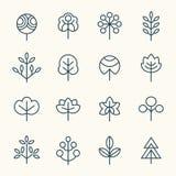 Ensemble d'icône d'arbres illustration stock