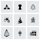 Ensemble d'icône d'arbres de Cristmas de vecteur Photos stock