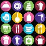 Ensemble d'icône d'articles de cuisine Photo libre de droits