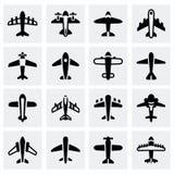 Ensemble d'icône d'avion de vecteur Image stock