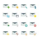 Ensemble d'icône d'email Photos libres de droits