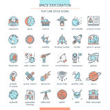 Ensemble d'icône d'exploration d'espace illustration de vecteur