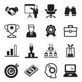 Ensemble d'icône d'homme d'affaires Photos libres de droits