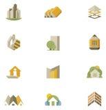 Ensemble d'icône d'immobiliers de vecteur Photos libres de droits