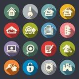 Ensemble d'icône d'immobiliers. Illustration de vecteur Images stock