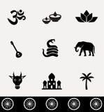 Ensemble d'icône d'Inde Image libre de droits