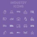 Ensemble d'icône d'industrie Photos stock