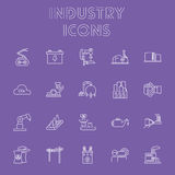 Ensemble d'icône d'industrie Image stock