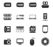 Ensemble d'icône d'instrument Images libres de droits