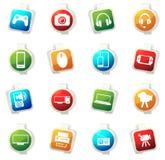Ensemble d'icône d'instrument Images stock