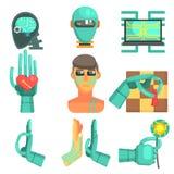 Ensemble d'icône d'intelligence artificielle