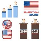 Ensemble 2016 d'icône d'élection de vecteur de Digital Photographie stock libre de droits