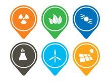 Ensemble d'icône d'énergie Photos libres de droits