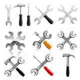 Ensemble d'icône d'outil de travail Vecteur Images stock
