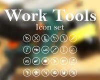 Ensemble d'icône d'outils de travail illustration de vecteur