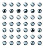 Ensemble d'icône dans des boutons Photos stock
