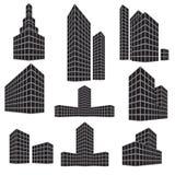 Ensemble d'icône de bâtiment Illustration de vecteur Illustration Stock