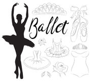 Ensemble d'icône de ballet Image stock