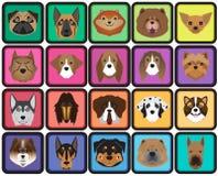 Ensemble d'icône de bande dessinée de chien illustration de vecteur