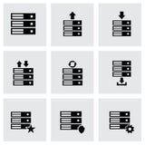 Ensemble d'icône de base de données de vecteur Photographie stock libre de droits