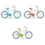 Ensemble d'icône de bicyclette Photographie stock