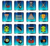 Ensemble d'icône de billards Image stock
