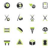 Ensemble d'icône de billards Image libre de droits