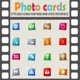 Ensemble d'icône de billards Images stock