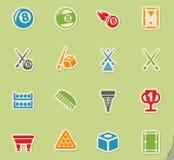 Ensemble d'icône de billards Images libres de droits