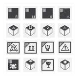 Ensemble d'icône de boîte Images stock