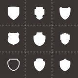 Ensemble d'icône de bouclier de vecteur Image libre de droits