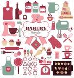 Ensemble d'icône de boulangerie Photo libre de droits