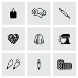 Ensemble d'icône de boulangerie de vecteur Image libre de droits