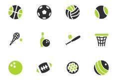 Ensemble d'icône de boules de sport Photo stock