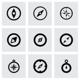 Ensemble d'icône de boussole de vecteur Photographie stock libre de droits