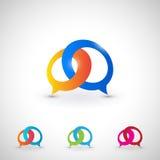 Ensemble d'icône de bulle de dialogue Illustration Libre de Droits
