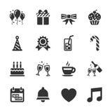 Ensemble d'icône de célébration et de partie, vecteur eps10 illustration libre de droits