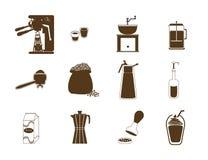 Ensemble d'icône de café illustration stock