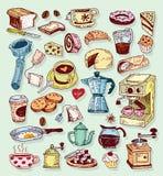 Ensemble d'icône de café Illustration de vecteur Photo stock
