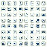 Ensemble d'icône de camping Images stock