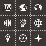 Ensemble d'icône de carte du monde de vecteur Photographie stock libre de droits