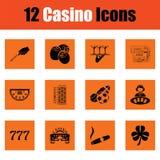 Ensemble d'icône de casino Photographie stock libre de droits