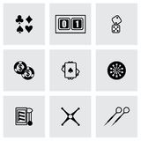 Ensemble d'icône de casino de vecteur Photographie stock libre de droits