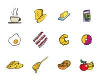 Ensemble d'icône de casse-croûte de petit déjeuner de vecteur Photo libre de droits