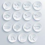 Ensemble d'icône de cercle de flèche de vecteur. ENV 10 Images stock
