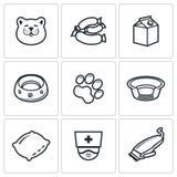 Ensemble d'icône de chat Image stock